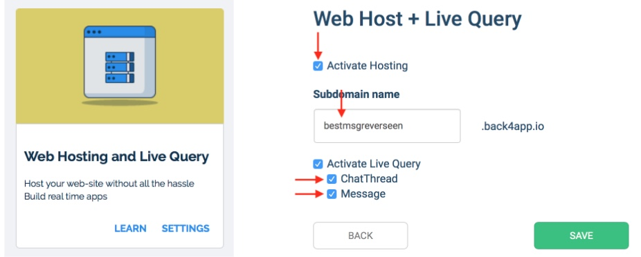 Enable Live Query