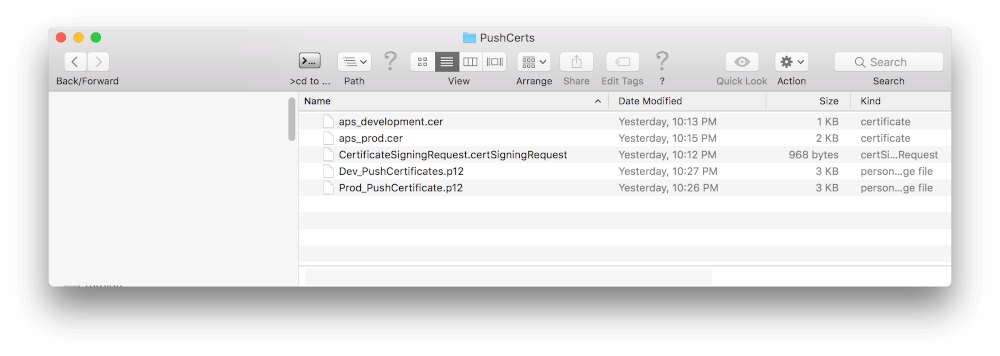 iOS Push Notification Settings In Xcode